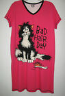 New Bad Hair Day Cat Funny Nightshirt Nightgown Womens S/M Lazy One Sleepwear
