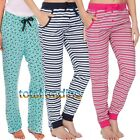 Womens Ladies  Lounge Pants  Pyjama Bottoms Trouser Nightwear PJ cotton & fleece