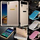Luxury Aluminum Metal Bumper Frame+Acrylic Cover Case For Lenovo K3 Note/Vibe X2