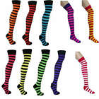 Thigh High Over The Knee Striped Socks Load of Colours Size 4-6.5 Fancy Dress