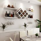 WHITE BLACK Wall Mounted Wine Rack Bottl...