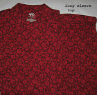 New Womens Winter Pajamas Sleepwear Sets by Cabernet Size XS Black Red Floral