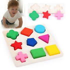 New Promotion Wooden 9Shapes Colorful Puzzle Toy Baby Educational Bricks Toy