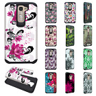 For LG K7 / Tribute 5 HARD Hybrid Rubber Silicone Case Phone Cover Accessory