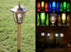 Solar LED Lights Copper Colored Garden Path Lighting Ground Stake Post 8 Pack