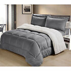 Ultra Mink Faux-Fur and Sherpa 3-piece Comforter Set