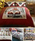 Campervan Beetles VW Cars Quilt Duvet Cover & Pillowcase Bedding Bed Sets
