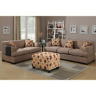 Farsund 2-piece Blended Linen Living Room Set With Matching Ottoman And Pillows