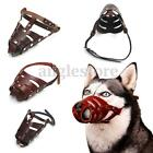 Adjustable Leather anti-Bite Mouth Mesh Muzzle Basket Cover For Pet Dog S M L