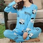 UK Women Cartoon Print Homewear Sleepwear Nightdress Pajamas Nightgown Nightgown
