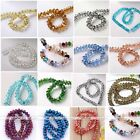 "7*10mm Crystal Glass Faceted Abacus Rondelle Loose Spacer Bead Charm 10.5"" Diy"