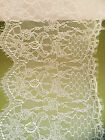 """Laces Galore"" Beautiful  Delicate Ivory Cream Bridal Eyelash Lace  22 cm/8.5"""