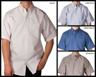 BIG Mens Hartwell Oxford Short Sleeve Button Front Dress / Casual Shirt XL - 4X