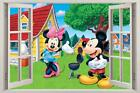 Mickey & Minnie Mouse 3D Window Decal Graphic WALL STICKER Art Mural Disney H359