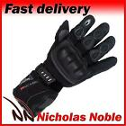 Richa Arctic Black Leather and Textile Waterproof Winter Gloves
