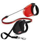 EXTENDABLE HUNTING SHOOTING DOG LEADS BY FLEXI STANDARD AND HEAVY DUTY NEW