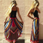 2016New Fashion Skirt Women Ladies Vintage Print Bohemian Maxi Long Waist Skirts