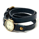 Fashion Women's Retro Leather Long Strap Analog Quartz Sport Wrist Watch