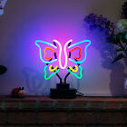 Real Glass Neon (No LED) Desk Reading Lamp Big MONARCH BUTTERFLY Light Sculpture