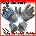 RST R-16 1062 Blue Black SEMI-SPORTS FULL GRAIN LEATHER MOTORCYCLE GLOVES
