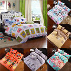 Simple  Duvet Cover With Pillow Case Quilt Cover Set Bedding Single Double King
