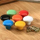 Round Ceramic Door Knobs Drawer Cabinet Cupboard Furniture Kitchen Pull Handle