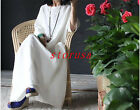 Classic Women Casual Leisure Maxi Plus Size Linen Long Dress Caftan Gown Loose
