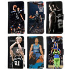 New 2016 NBA All Star For Faux Leather Flip Case Cover iPhone 6 6s Plus 4.7/5.5