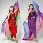 FASHION MUITI COLOR TRIBAL WOMEN BELLY DANCE VEIL SCARF SARONG SILK LIKE