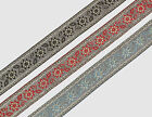 "01 yd Jacquard Trim 1.20"" wide Woven Border Sew  Ribbon Lace T926"