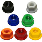 M6 & M8 Nylon Nuts Flange Washer Nuts White,Red,Blue,Black,Green,Orange & Yellow