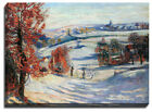 Canvas Print A. Guillaumin, Snow in Crozant, 1898