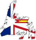 Newfoundland Map Flag Decal / Sticker