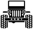 Army 4X4 Jeep Decal Bumper Sticker