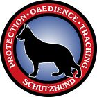Schutzhund Round (b)Decal Bumper Sticker