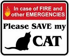 In Case of Fire Save My Cat Decals / Stickers