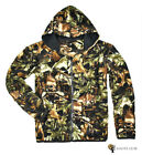 New Men's Outdoor Hunting Sportswear Camo Fleece Pullover Size X , XL Available
