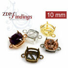 6pcs x Square 10mm Bezel Setting fit Swarovski 4470 - Choose Your Finish (N19LV)