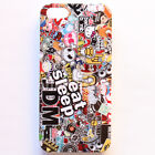 JDM Eat Sleep STICKER BOMB Illest Hellaflush Black Case Cover For iPhone 4s 5 5s