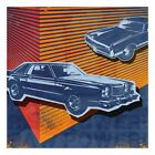 Retro Ride - 2 Blue Cars by Paste Face Painting Print on Wrapped Canvas