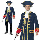 Mens Pirate Commander Admiral Costume Navy Fancy Dress Outfit Deluxe M-L