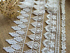 Ivory or White Satin Guipure/Venise Lace Trim 4 designs  Craft Sew Bride