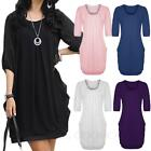 FINAL SALE -  Women's 3/4 Sleeve V Neck Chiffon Dress Summer Tunic Top Blouse