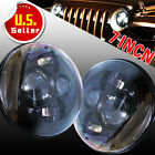 2X 7 inch 80W Round Lens H4 LED Headlights for Jeep Wrangler JK Harley Black