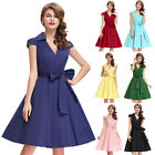 Vintage Style Ladies 40s 50s Swing Cocktail Evening Party Prom Bridesmaid Dress
