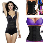Womens Latex Underbust Body Shaper Waist Clincher Corset Training Trainer Belt