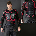 Motorcycle Motocross Body Armour Motorbike Protection Guard Jacket Black/Red