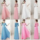 Womens Chiffon Lace Boho Maxi Evening Party Cocktail Dress Gown Wedding 6 Colors
