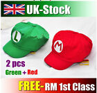 Luigi Super Mario Bros Cosplay Adult Size Hat Cap Baseball Costume Red Green Hat