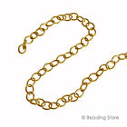 Various Length 14ct Yellow Gold Filled 3.7mm Cable Link Unfinished Beading Chain